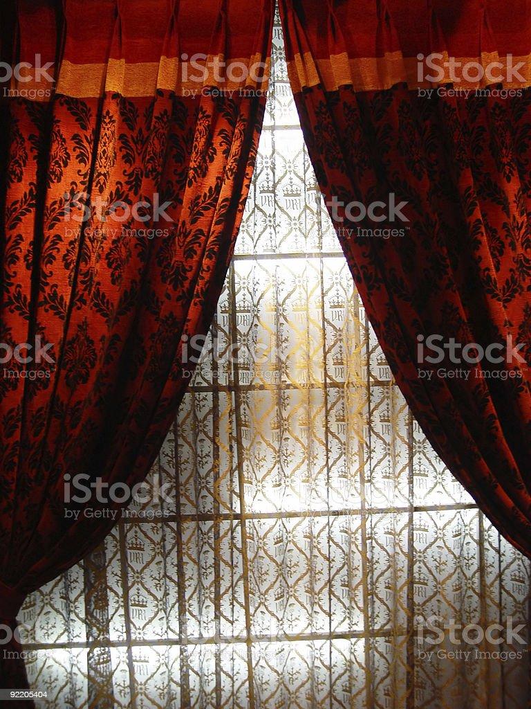 Luxury curtain royalty-free stock photo