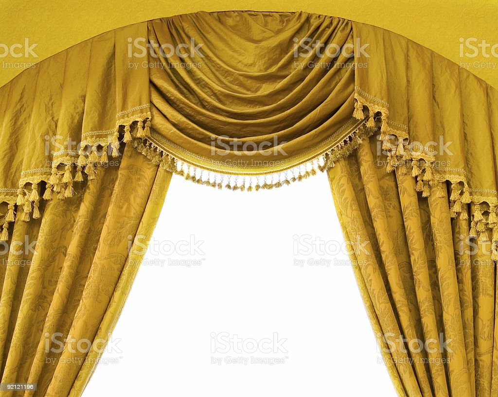 Luxury curtains royalty-free stock photo