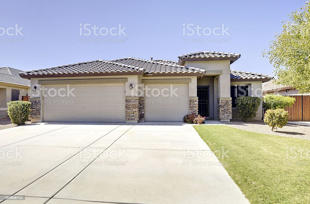 Luxury Desert Home stock photo