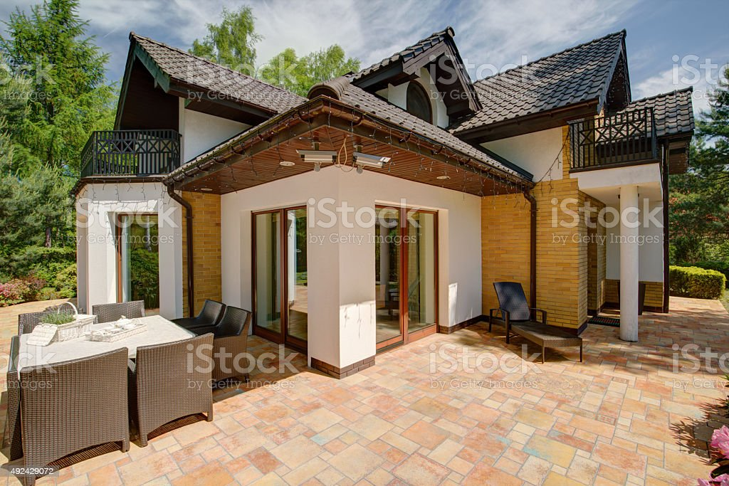 Luxury detached house stock photo