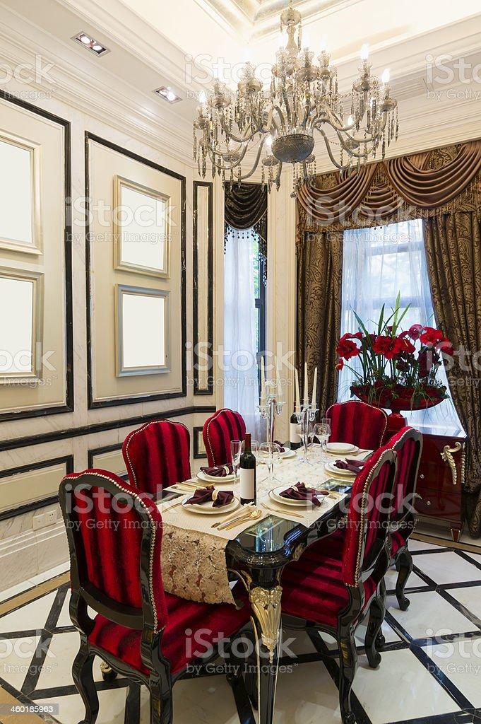 luxury dining room royalty-free stock photo