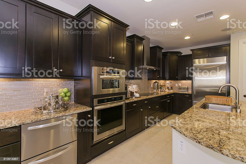 Luxury Domestic Kitchen stock photo