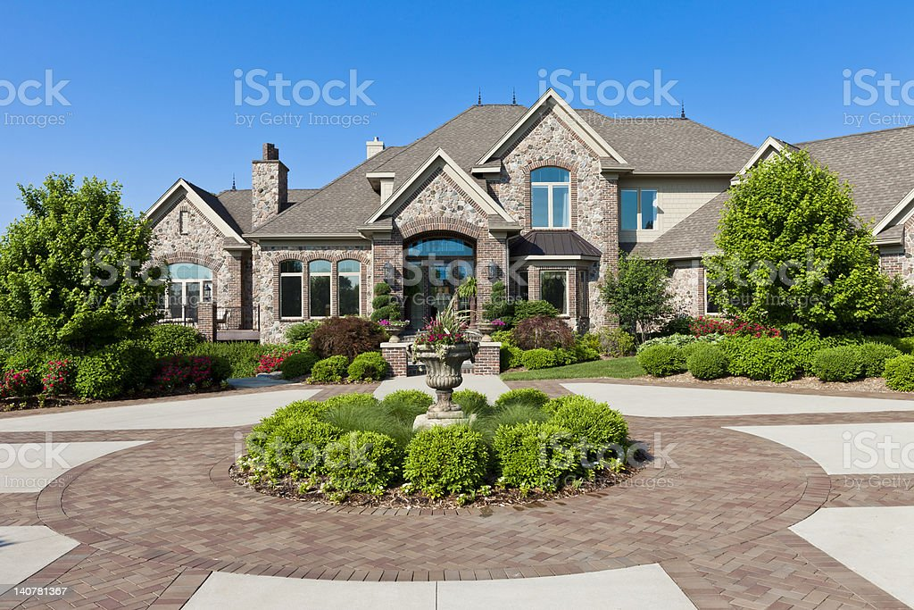 Luxury Dream Home stock photo