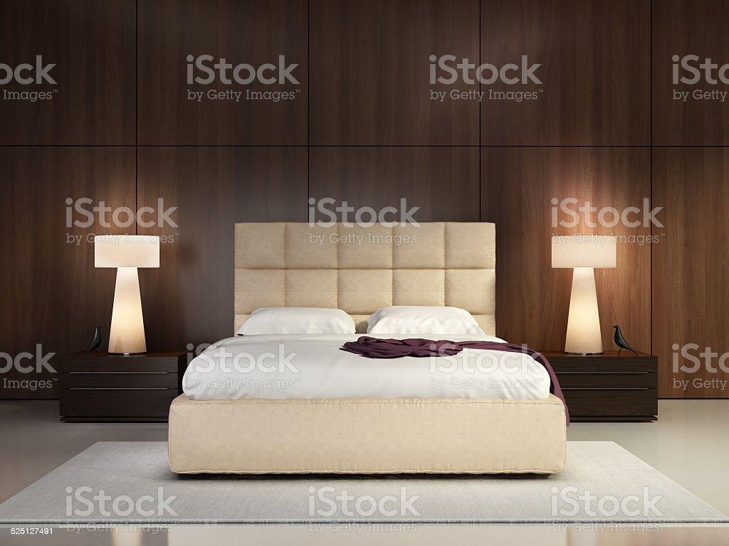 Luxury elegant bedroom stock photo