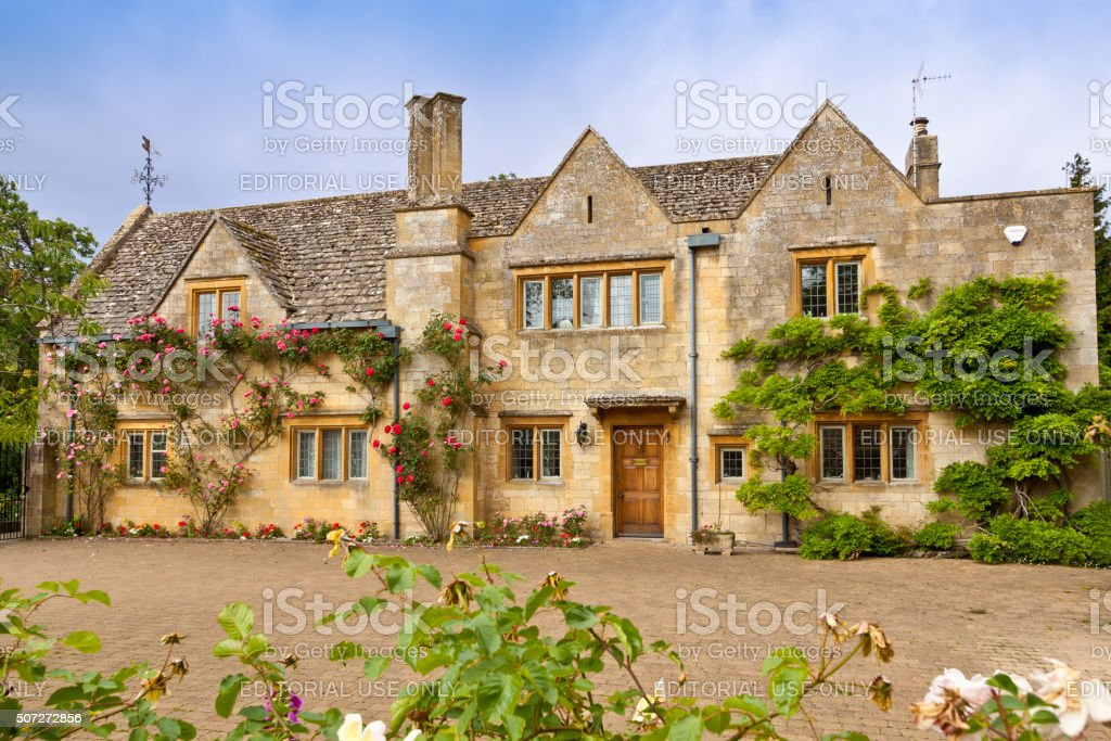 Luxury English House in Chipping Campden, Cotswold, England, United Kingdom. stock photo