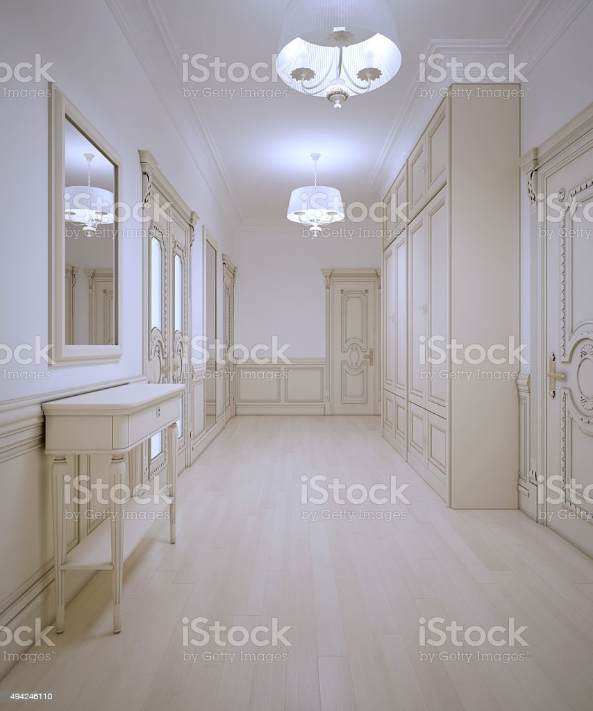 Luxury entrance art deco style stock photo