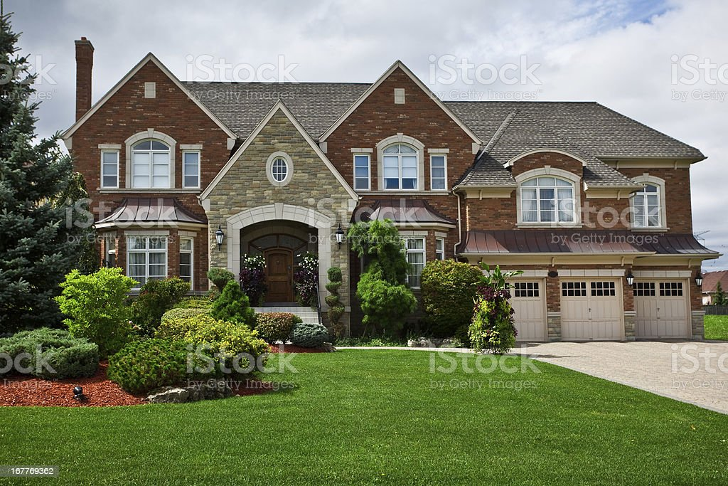 Luxury Estate Home in Ontario stock photo