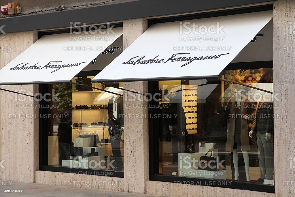 Luxury fashion - Salvatore Ferragamo royalty-free stock photo