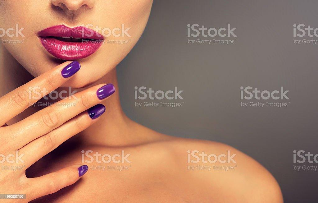 Luxury fashion style, nails manicure. stock photo