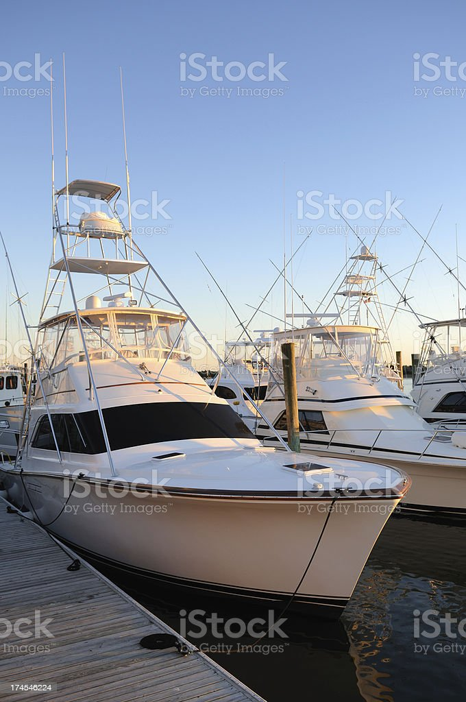 Luxury Fishing Boats Royalty Free Stock Photo