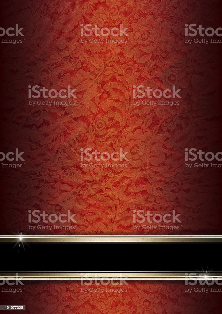 Luxury Floral Orange and Red Background stock photo