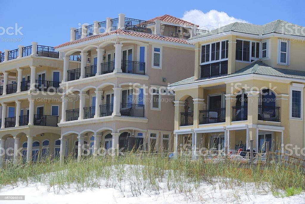 Luxury Florida Beach Homes stock photo