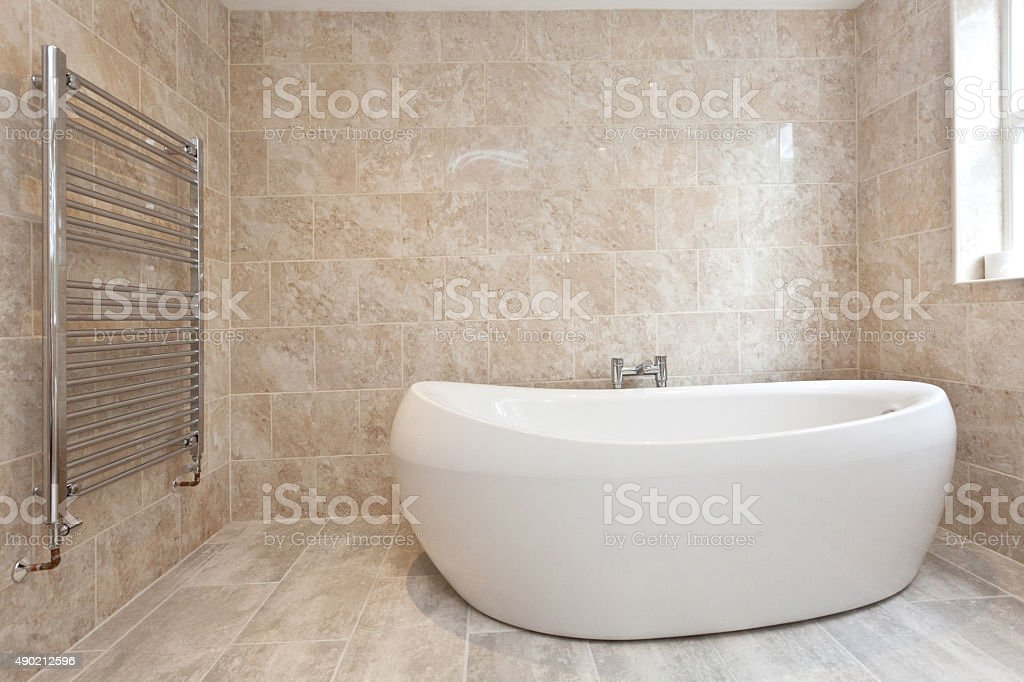 Luxury Free-standing Bath stock photo