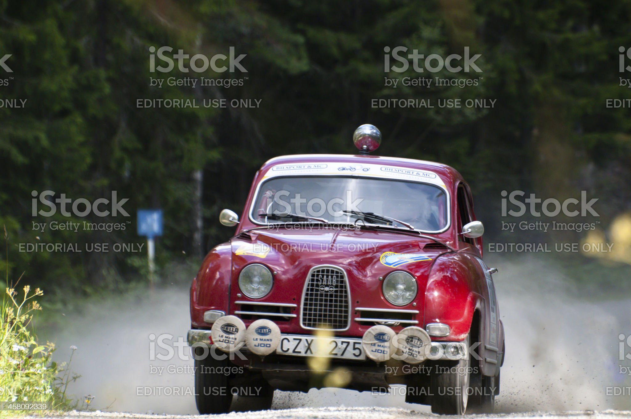 SAAB 96 de luxe from 1964 royalty-free stock photo