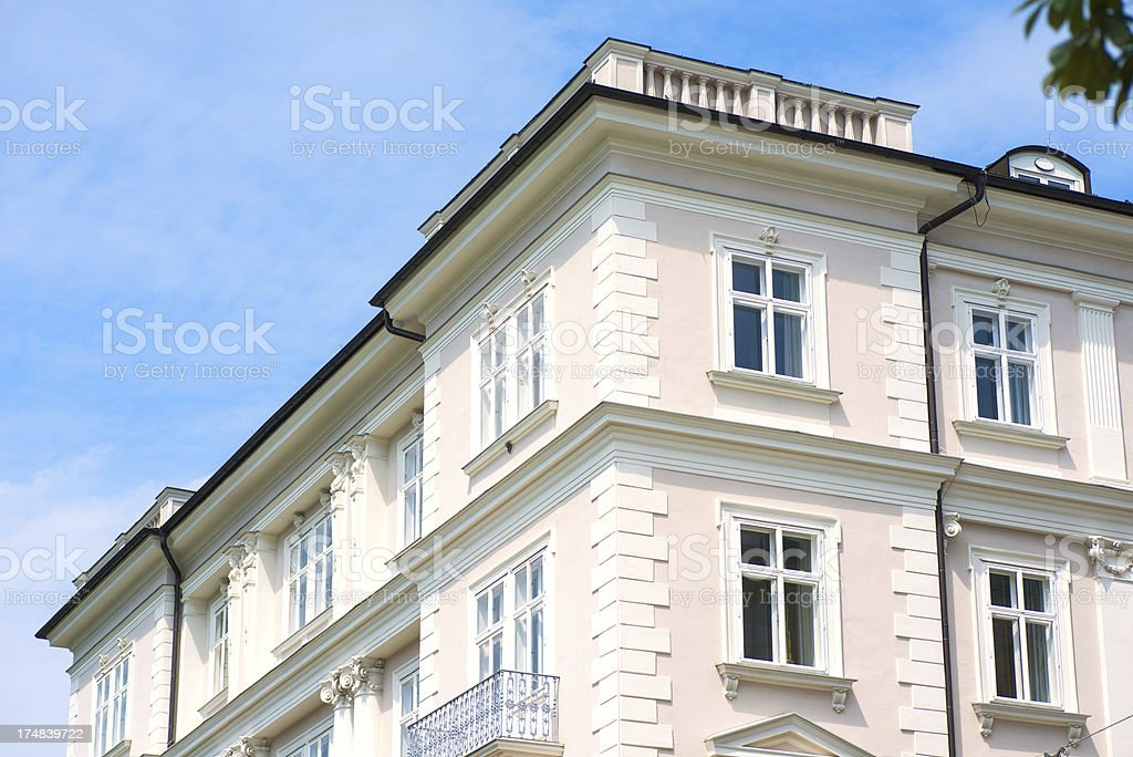 luxury german building with pink fassade royalty-free stock photo