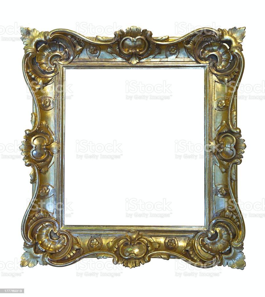 Luxury gilded frame. Isolated over white royalty-free stock photo