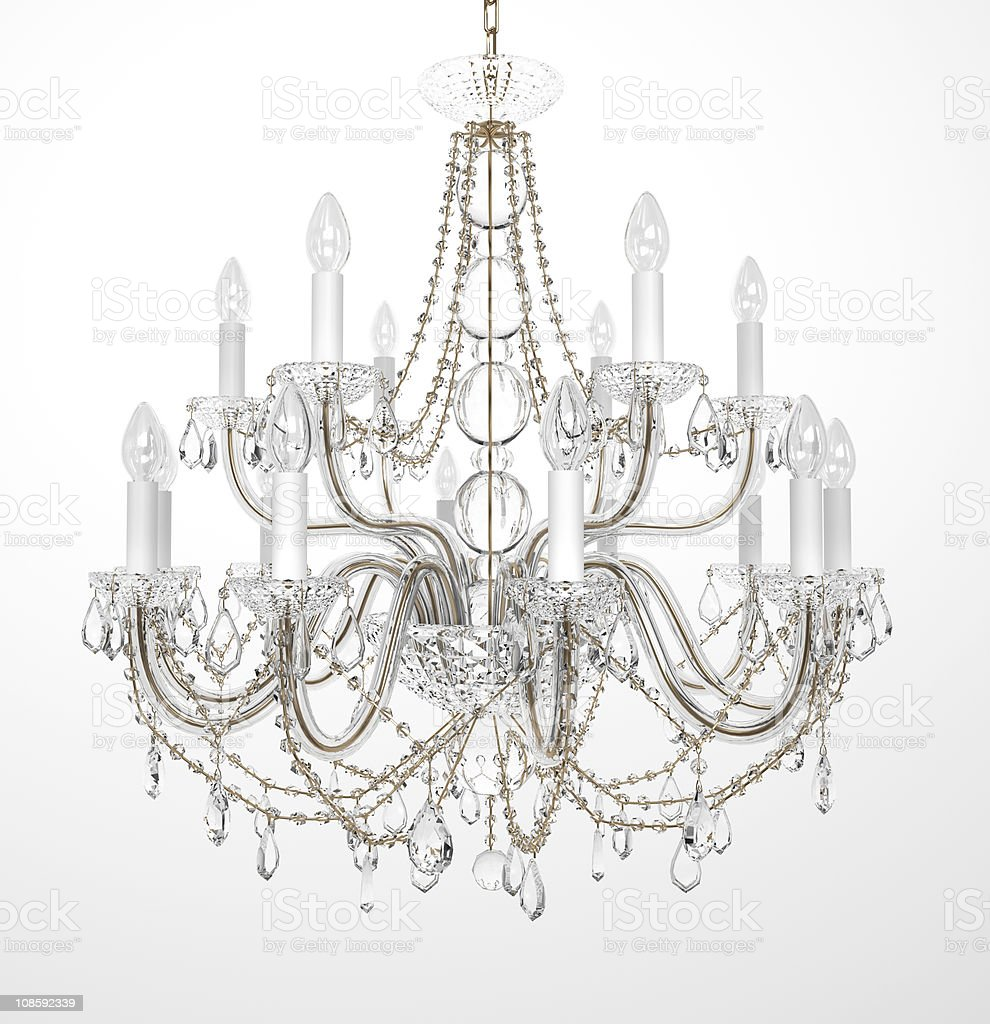 Luxury Glass Chandelier royalty-free stock photo