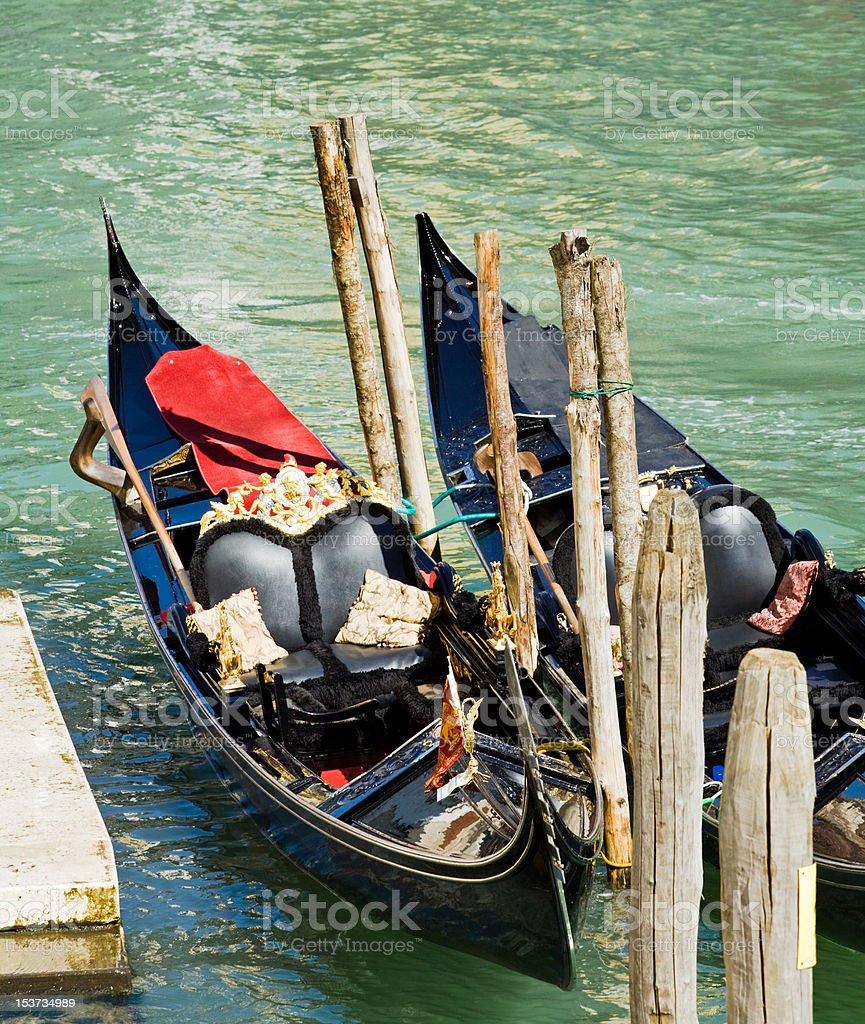 Luxury gondola in Venice royalty-free stock photo