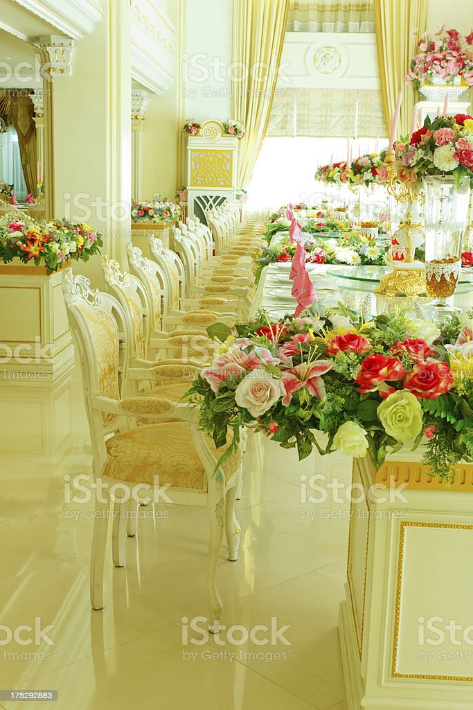 Luxury Grand Dinning Room royalty-free stock photo