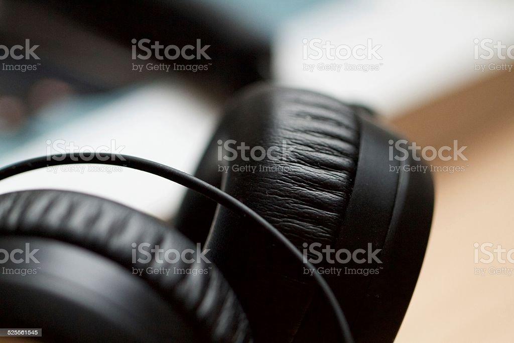 Luxury Headphones stock photo