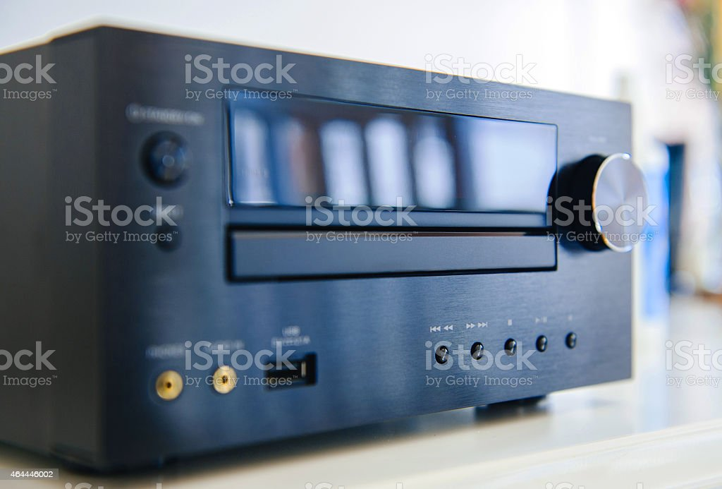 Luxury Hi-Fi audiophile system stock photo