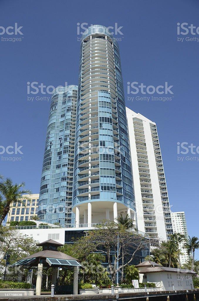 Luxury highrise apartments royalty-free stock photo
