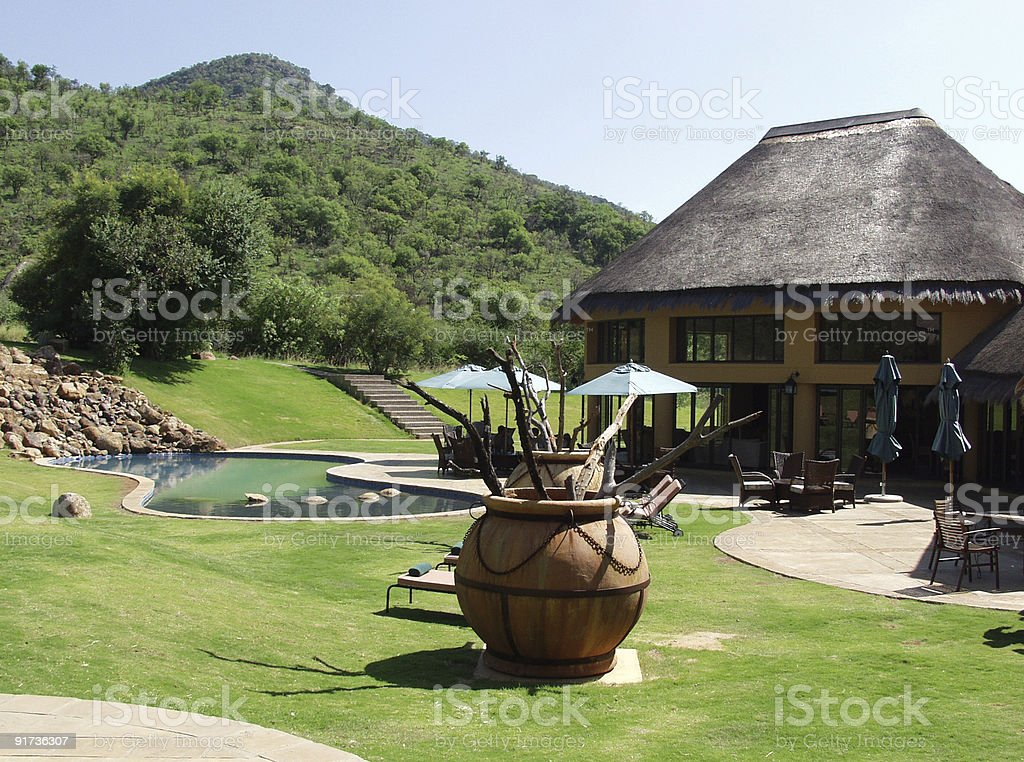Luxury holiday villas royalty-free stock photo
