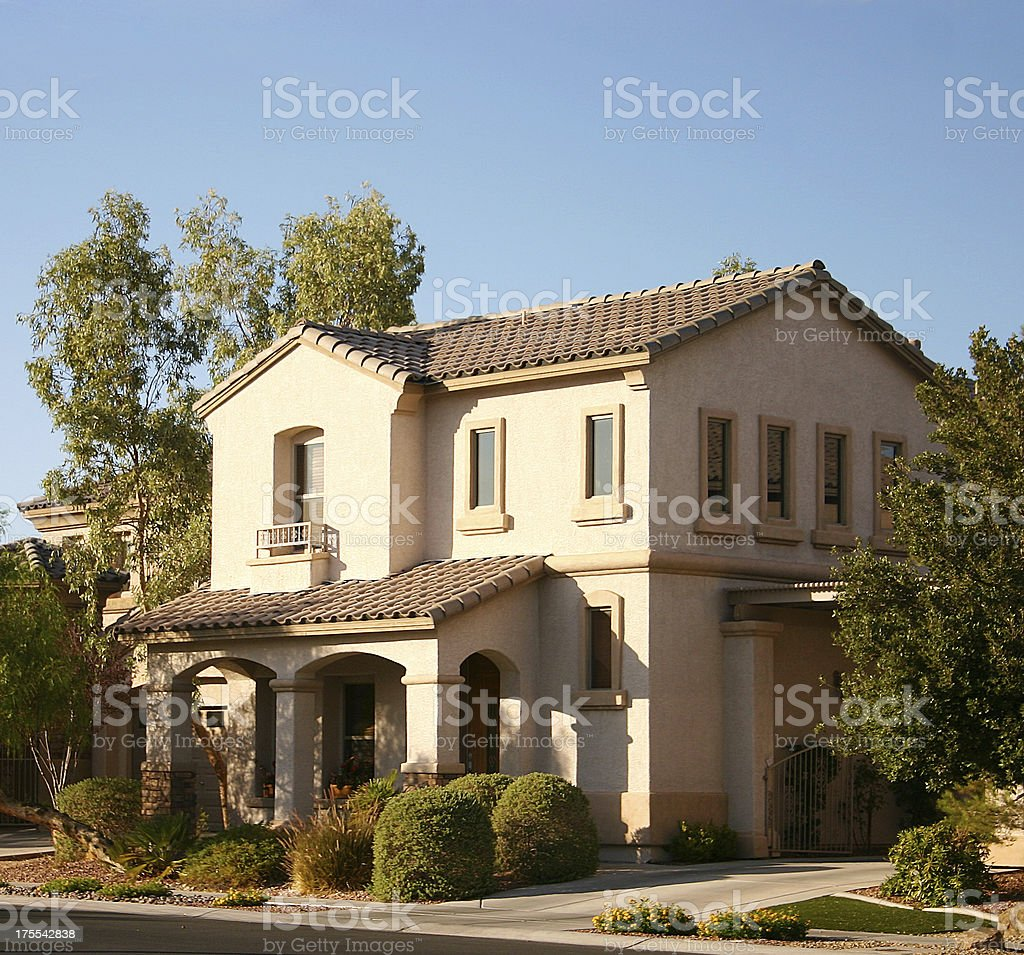 Luxury Home - American Dream House stock photo