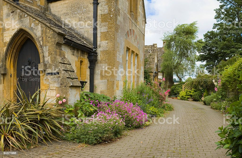 Luxury home and driveway royalty-free stock photo