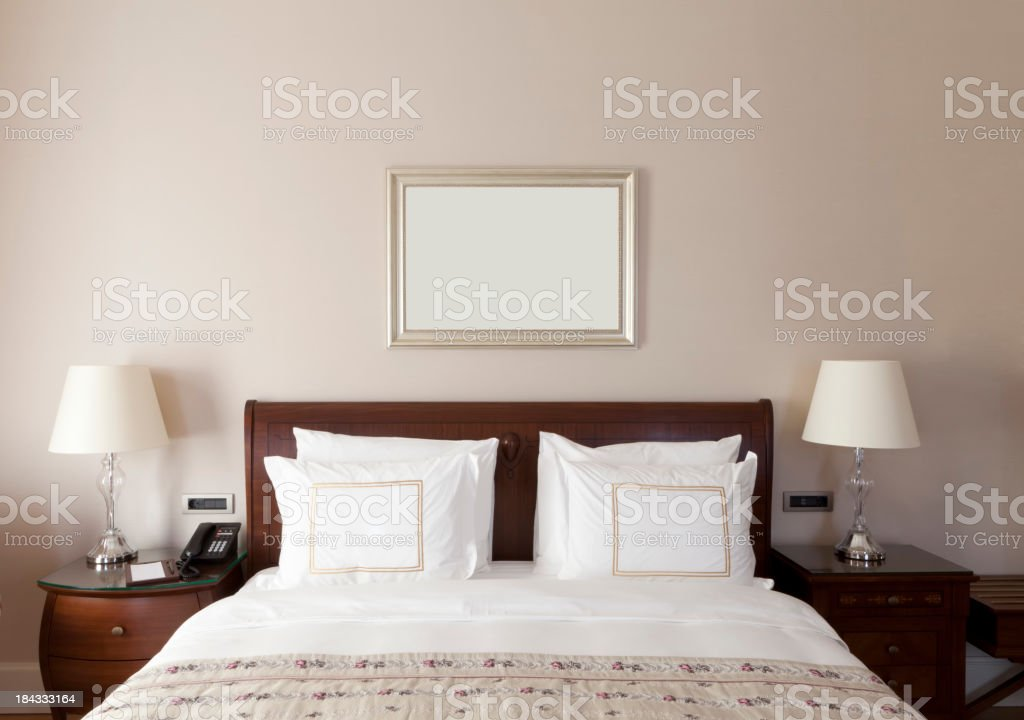 Luxury home bedroom stock photo
