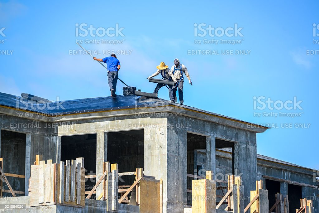Luxury home construction in Fort Lauderdale, USA stock photo