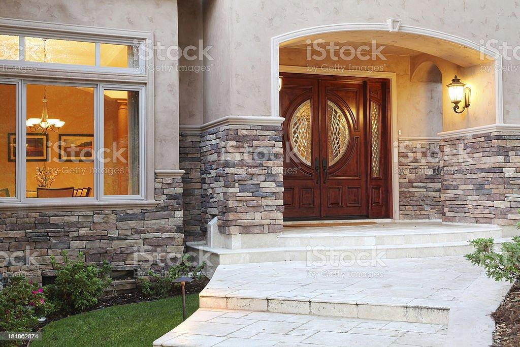 Luxury Home Entrance stock photo
