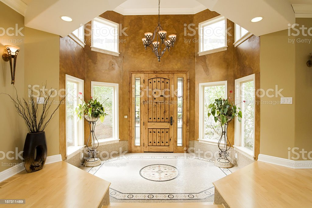 Luxury Home Entryway royalty-free stock photo