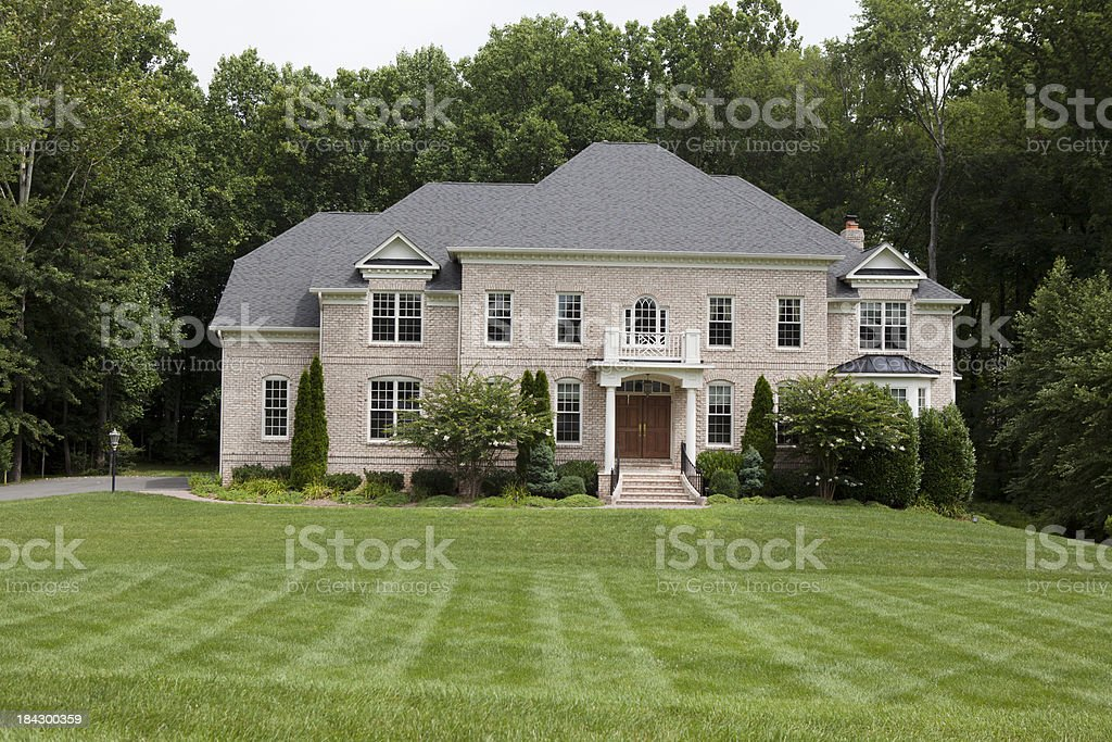 Luxury Home in Northern Virginia stock photo