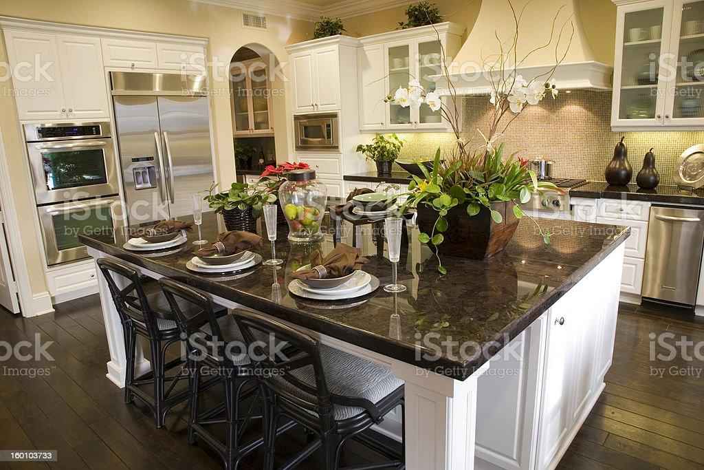 luxury home kitchen stock photo