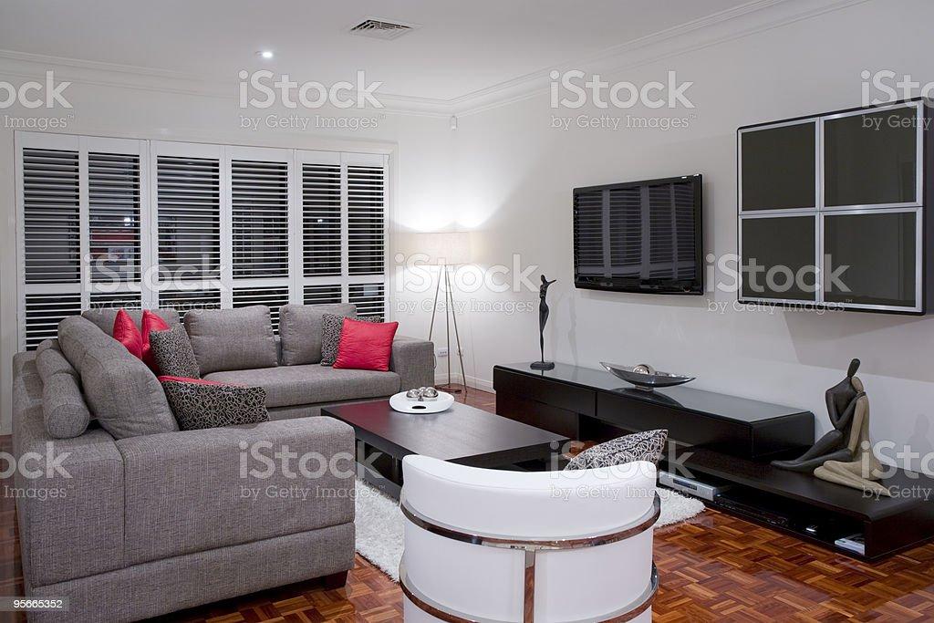luxury home living room interior royalty-free stock photo