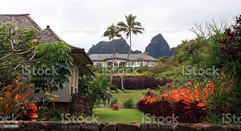 Luxury home on Hawaii stock photo
