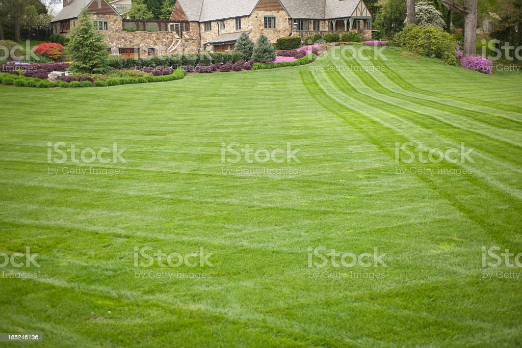 Luxury Home or House with Large Front Yard stock photo