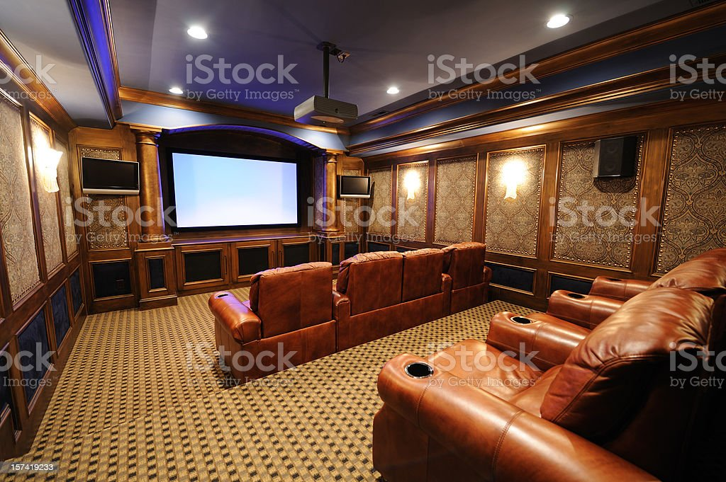 Luxury Home Theater royalty-free stock photo