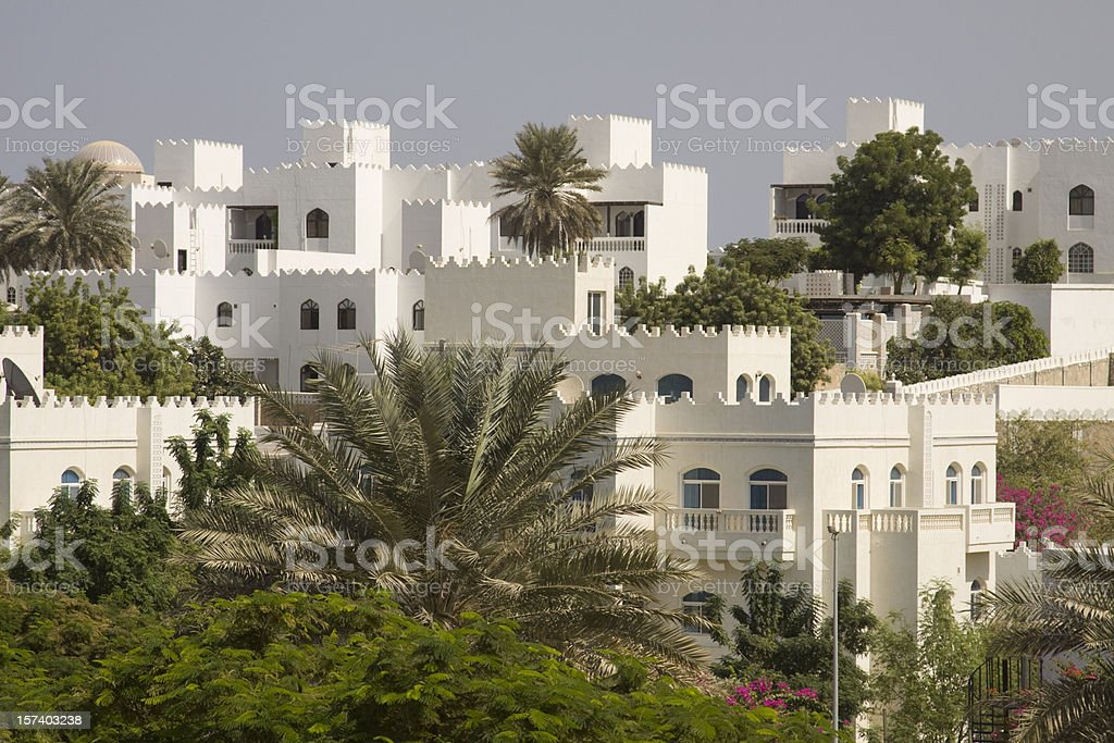 Luxury homes in Oman royalty-free stock photo