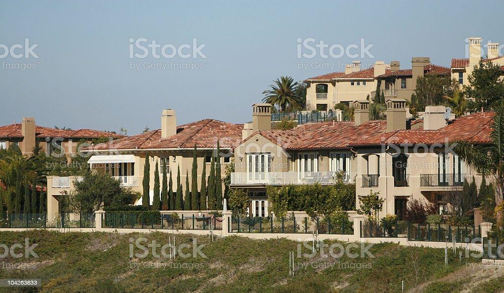 Luxury Homes- Orange County royalty-free stock photo