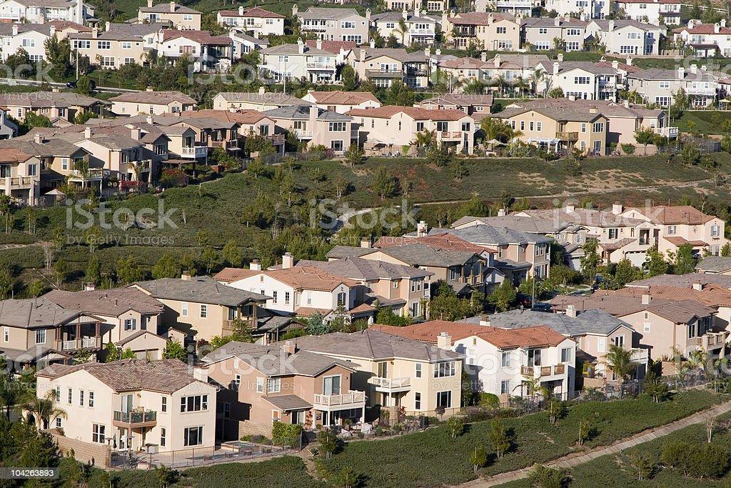 luxury homes-orange county stock photo