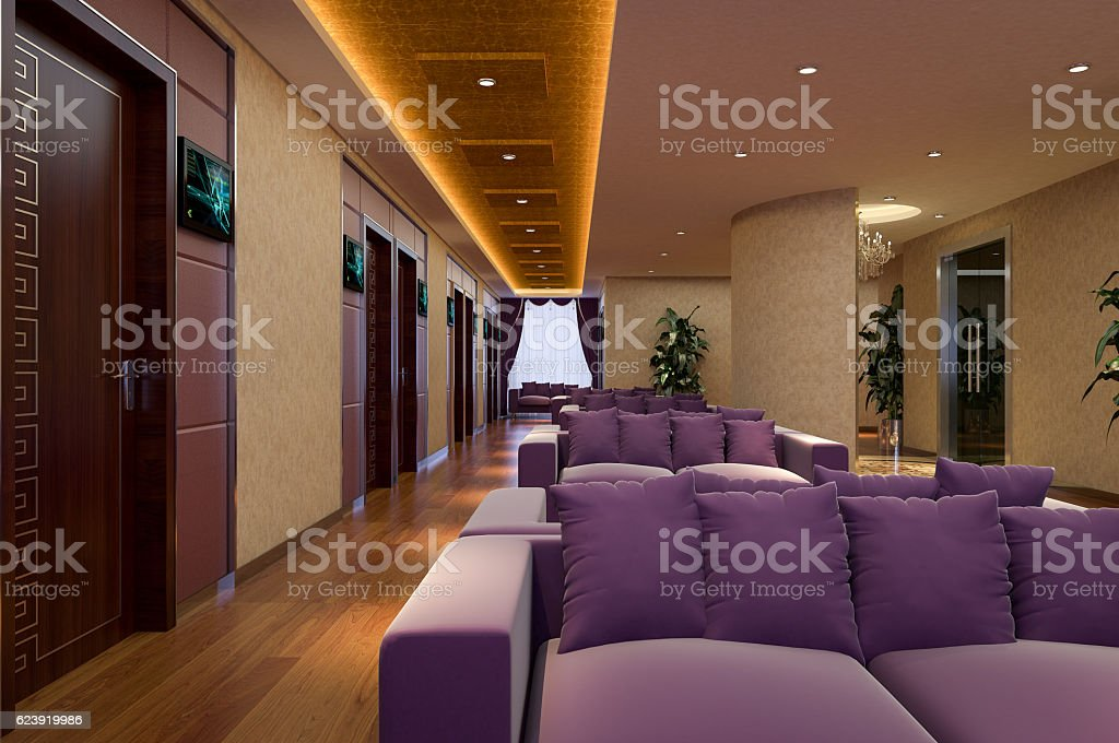 Luxury Hospital Aisle stock photo