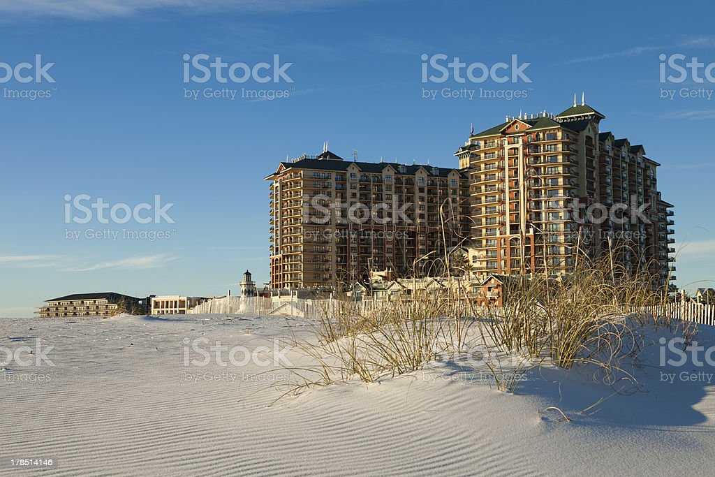Luxury Hotel and Dune royalty-free stock photo