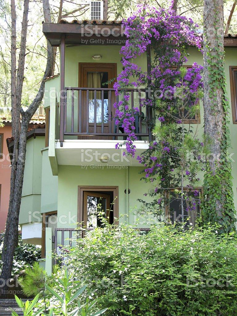 luxury hotel apartment balcony royalty-free stock photo