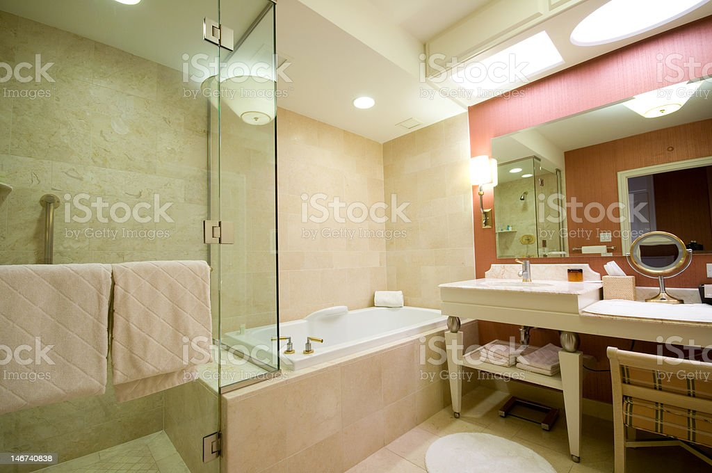 Luxury hotel bathroom royalty-free stock photo