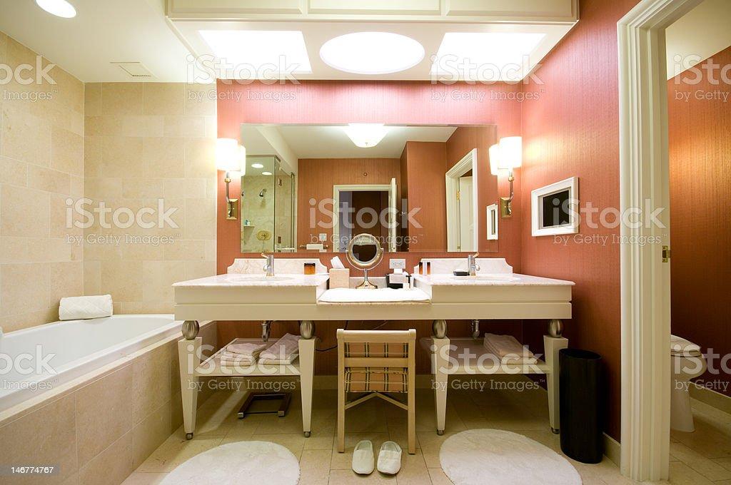 Luxury hotel bathroom royalty-free stock photo