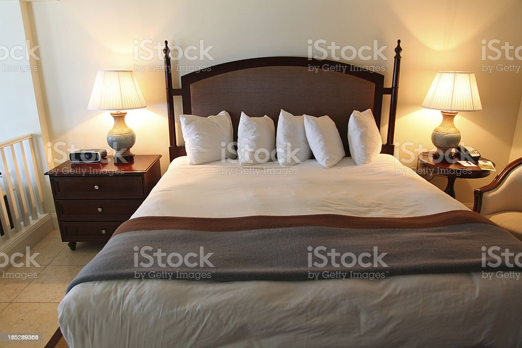 Luxury Hotel Bed royalty-free stock photo