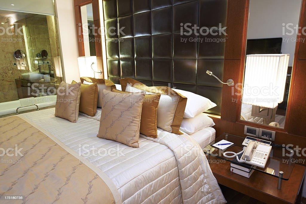 Luxury Hotel Bedroom royalty-free stock photo