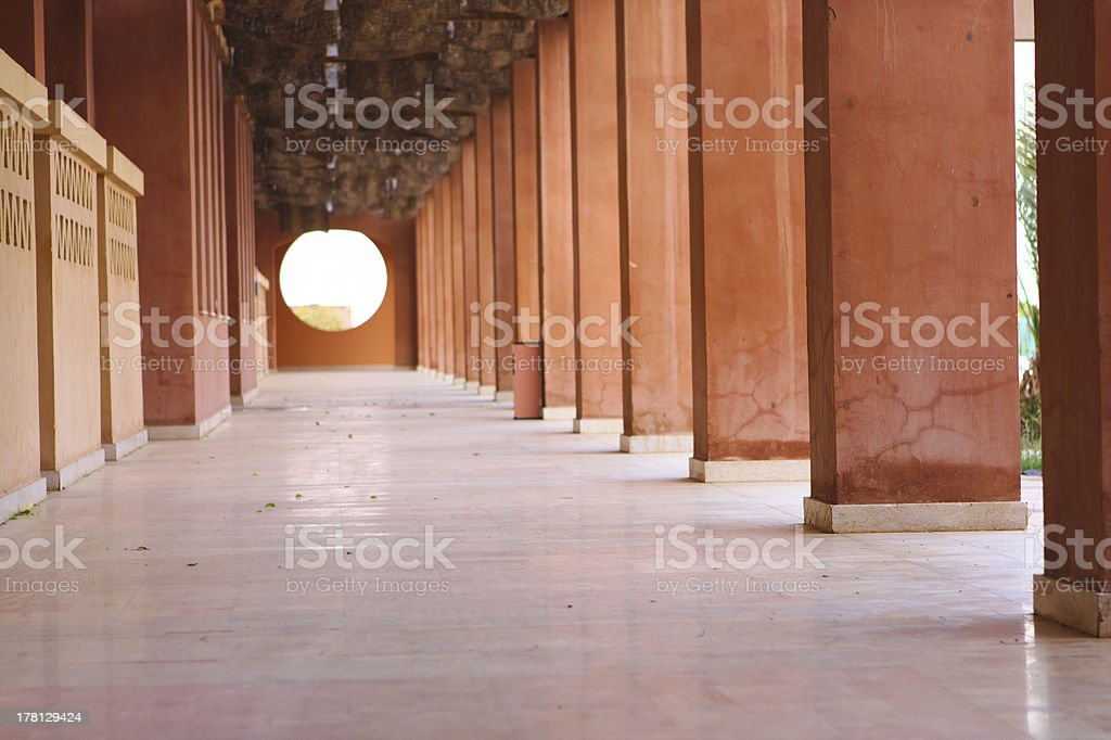 Luxury hotel colonnade royalty-free stock photo